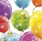 Papírový ubrousek Jiskřivé balónky 20 ks