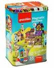 Magnetické domečky - magnetická hra 35 dílků a 10 předloh