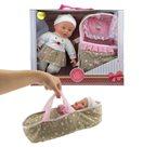 Panenka miminko měkké tělo s postýlkou, 30cm velká v krabici
