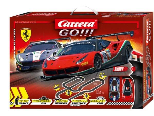Autodráha Carrera GO!!! 62487 High Speed Contes 8,6m + 2 auta v krabici