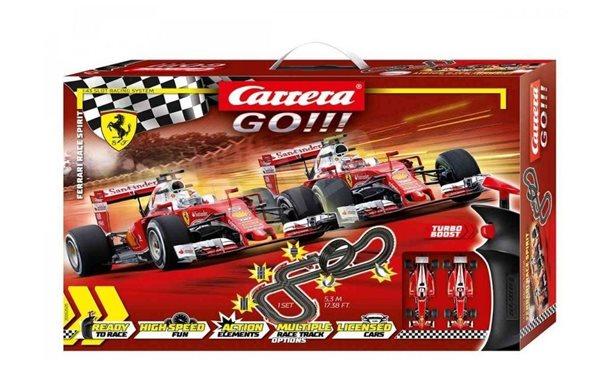 Autodráha Carrera GO!!! 62505 Ferrari Race Spirit 5,3m + 2 formule