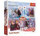 Puzzle Ledové království 2: Cesta do neznáma 4 v 1 (35,48,54,70 dílků)