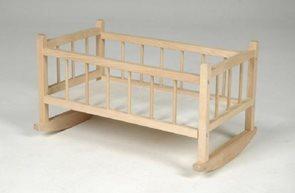 Kolébka pro panenky dřevo 49x 28x 27 cm
