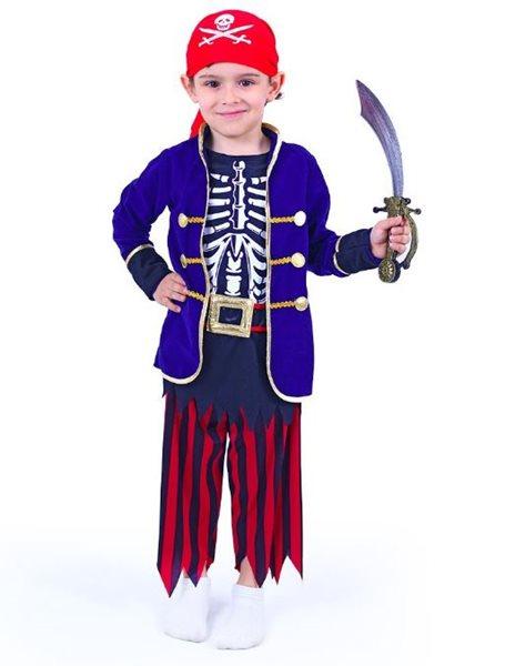 Kostým pirát s šátkem dětský - vel. M