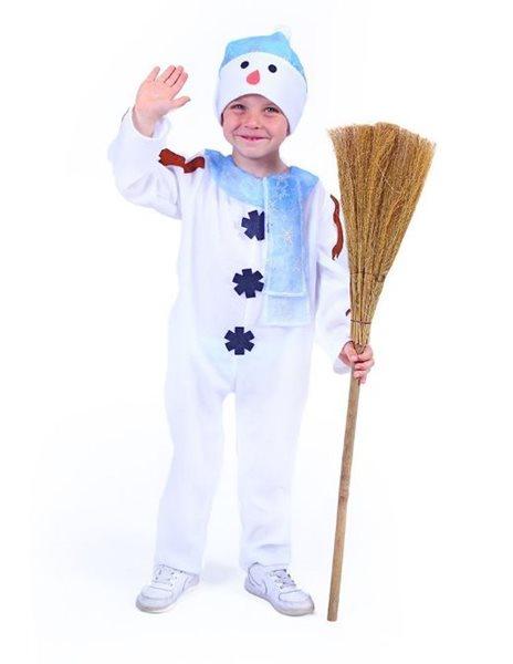 Kostým sněhulák s čepicí a modrou šálou