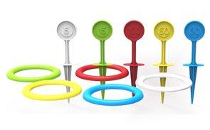 Hra házecí kroužky a kolíky plastové, 22 cm