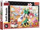 Puzzle Minnie Disney v salónu krásy 41x 27,5cm 100 dílků
