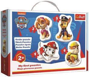 Baby puzzle Tlapková patrola 4 v 1 (3,4,5,6 dílků)