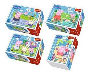 Minipuzzle 54 dílků Šťastný den Prasátka Peppy, mix