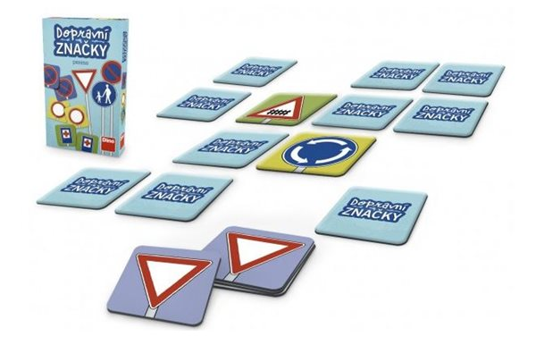 Pexeso Dopravní značky - společenská hra 48 ks