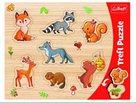 Vkládačka/ Puzzle obrysové lesní zvířátka