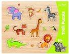 Vkládačka/ Puzzle obrysové zvířátka ZOO
