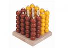 Piškvorky 3D podstavec, kuličky dřevo/ kov - hlavolam