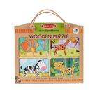 Dřevěné puzzle na cestu Zvířata