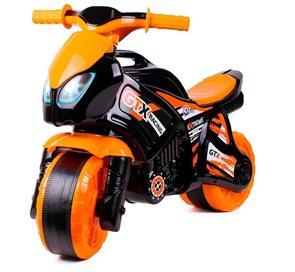 Odrážedlo motorka oranžovo - černá plast 35 x 53 x 74 cm, 24m+