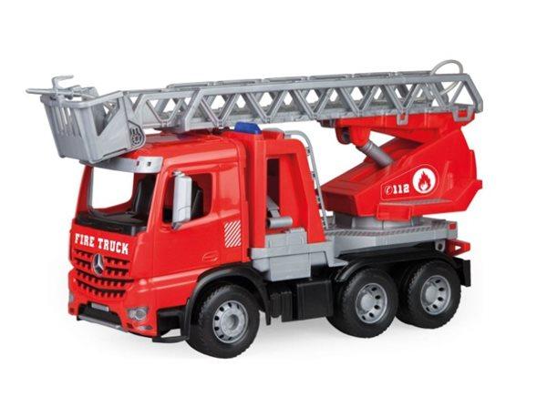 Mercedes Arocs hasič se žebříkem, okrasný kartón, Sleva 20%