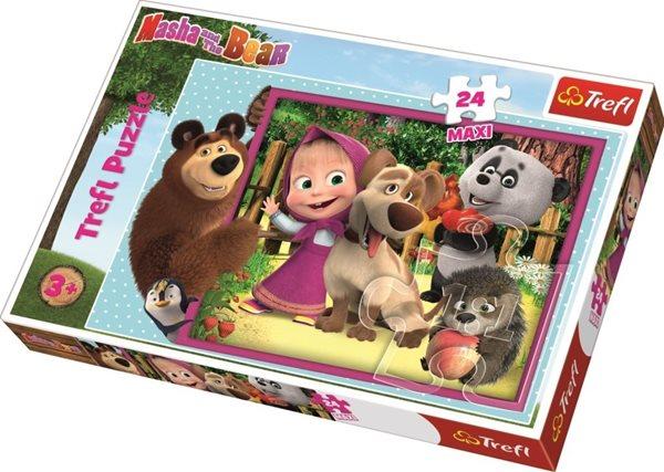 Puzzle maxi 24 dílků Máša a medvěd 60 x 40 cm