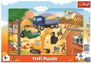 Puzzle Na staveništi 15 dílků