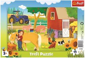 Puzzle Na farmě 15 dílků