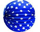 Lampion papírový kulatý modrý, 25 cm