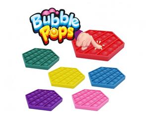Bubble pops silikon antistresová společenská hra 11 x 11 cm, mix barev