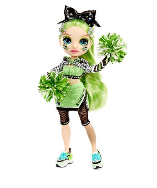 Rainbow High Faschion panenka - Roztleskávačka - Jade Hunter (zelená)