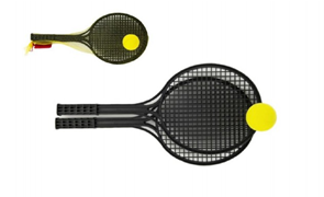 Soft tenis černý + míček, 53 cm
