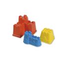 Androni Tvořítka na písek 3 kusy - hrady, mix barev