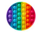 Bubble pops - Praskající bubliny silikon antistresová spol. hra, kruh duha