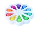 Pop It Simple Dimple - senzomotorická hračka - květina