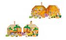 Safari/ ZOO figurky dřevo + domeček 16 ks