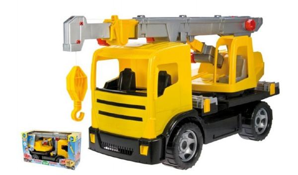 Autojeřáb plast 70 cm 2-osý žlutý