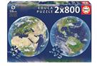 Kulaté puzzle Planeta Země 2 x 800 dílků