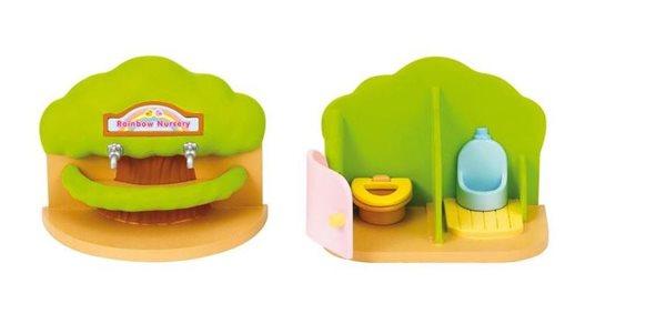 Sylvanian Families Přenosná toaleta a umývárka pro školky
