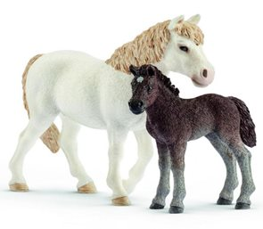 Schleich 42423 Set poník kobyla a hříbě