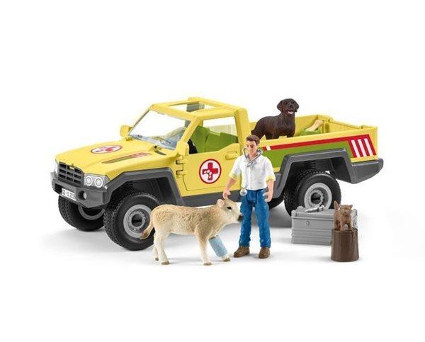Schleich 42503 Záchranné terénní auto s veterinářem