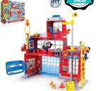 Mickey Mouse hasičská stanice na baterie se světlem a zvukem + 2ks figurky