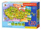 Puzzle Mapa České republiky 120 dílků + 14 kvízů 40x28 cm