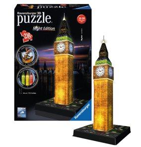 Puzzle 3D Big Ben (Noční edice), 216 dílů