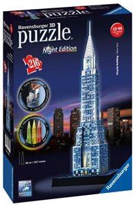Puzzle 3D Chrysler building (Noční edice), 216 dílků