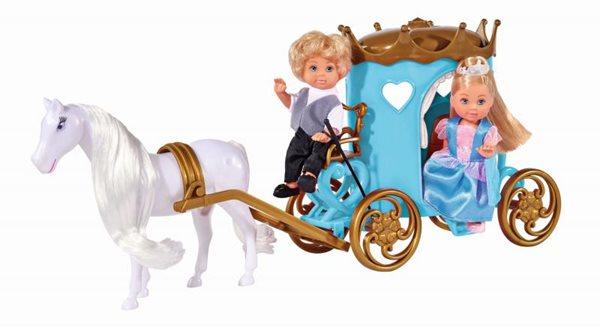 Panenka Evička s Timmy s kočárem