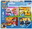 Puzzle - Tlapková Patrola; 4v1, 12,16,20 a 24 dílků