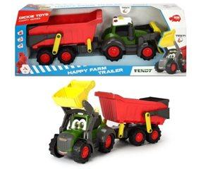 Happy Traktor s přívěsem 65 cm