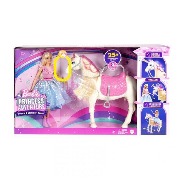 Barbie Princess Aventure - Princezna a kůň se světly a zvuky