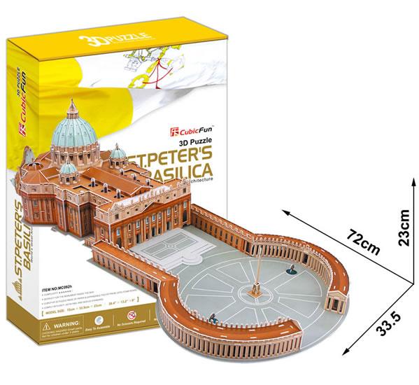 Puzzle 3D Bazilika sv. Petra - 23x33 cm