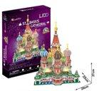 Puzzle 3D Katedrála sv. Bazila /LED - 224 dílků