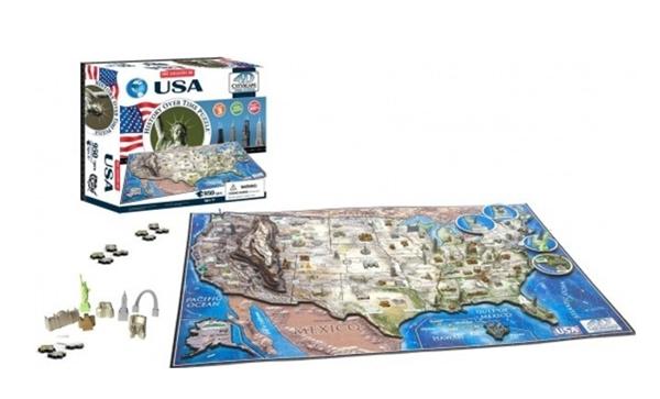 4D City Puzzle USA - 27x31 cm