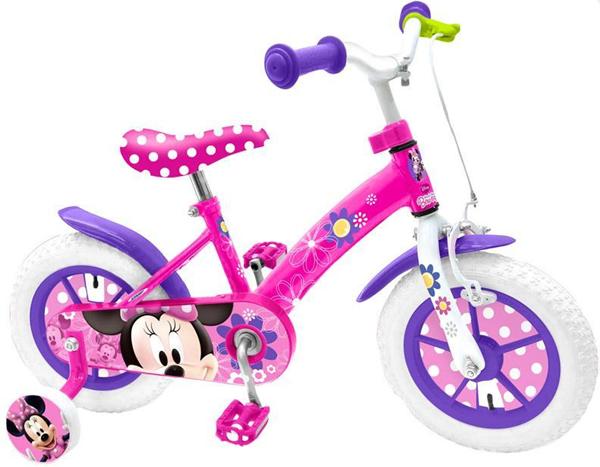 Jízdní kolo 12´´ Minnie s postranními kolečky, Doprava zdarma