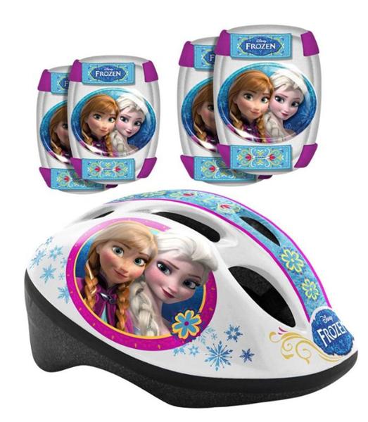 Bezpečnostní set Ledové království helma, kolenní a loketní chrániče