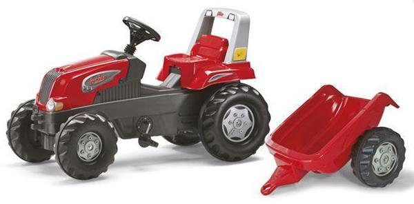 Šlapací traktor Rolly Juniors vlečkou červený akční, Doprava zdarma